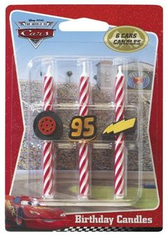 Decopac Cars Icon Birthday Candles - List price: $6.99 Price: $6.19 + Free Shipping