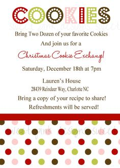 Christmas cookie exchange by pam130 on Pinterest   Cookie ...