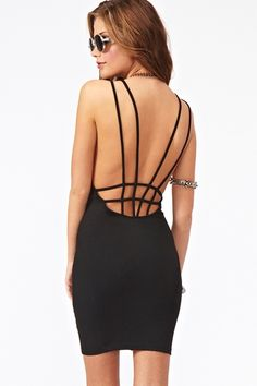 Web Cutout Dress