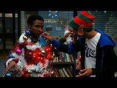 "Troy the human Christmas tree. ""Oh Christmas Troy, oh Christmas Troy..."""