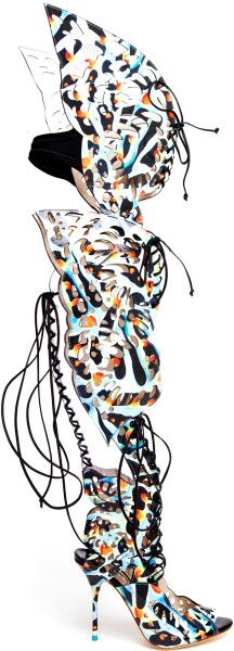 Love this: Athena Butterfly Printed Leather Boots @Lyst