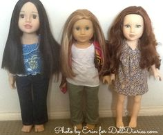 Australian Girl doll, American Girl McKenna, Journey Girl doll Great post showing the difference in size for each doll!