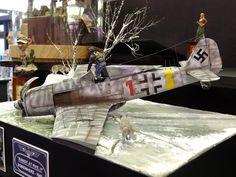 Superb diorama Fw 190 crash