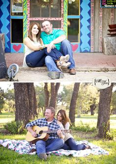 Vintage Rustic Engagement Photos with guitar    Candace and Cody's Engagement Photos {Abilene, Texas Engagement Photographer}