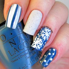 It's all about the polish: Winter Skittle Nail Art