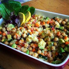 "Healthy Summer Qunioa Chickpea Salad!! ""Refreshing spring/summer salad!""  @allthecooks #recipe"