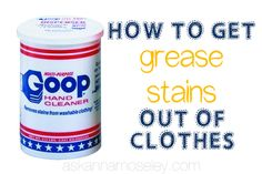 How to get grease stains out of clothes - Ask Anna