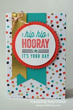 Love this mix of the Hip Hip Hooray and Good As Gold kits!