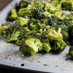 Make a broccoli fan out of anyone with this Roasted Garlic Parmesan Broccoli!