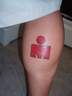 M-Dot Ironman Tattoo with outline