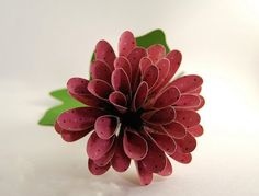 Spiky Dahlia Scrapbook Paper Flower