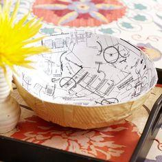 paper mache bowl instructions