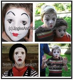 Face Painting kids is what I do... these little boys wanted to be mimes. They had so much fun practicing mime moves! #facepainting