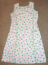 Vtg 60s Signed Vested Gentress Sea Crabs Shells Novelty Green Pink Sheath Dress
