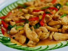 Thai Basil Chicken with Cashews yummy stuff..if you ever need or want to learn how to cook something different from what you usually cook you should definitely look into easy thai recipes..thai food is amazing