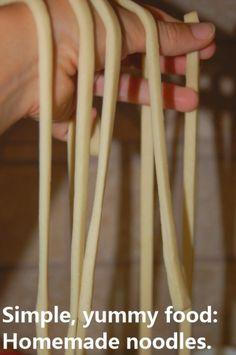 homemade noodles / pasta ~ edible play dough