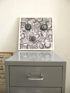 """Magnetic Board with three felt magnets, Wooden frame, 12""""X12"""". $44"""