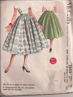 McCalls Skirt Pattern by MuddyRiverAntiques on Etsy//// wow I remember this pattern, we had one!