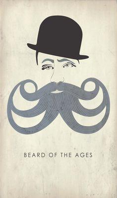 Beard of the Ages Art Print Poster 11 x 17 by ragandbonestudio, $22.00