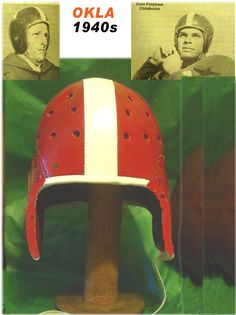 Oklahoma leather football helmet of the 1940s The Sooners