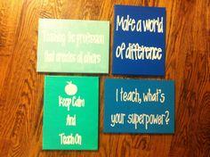 Teacher Quote Canvas Sign Teacher appreciation by TheBlondette, $12.00