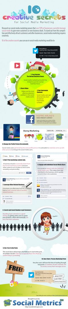 10 Creative Secrets For Social Media Marketing #Infographic — Social Metrics Pro - WordPress Social Media Analytics and Monitoring Plugin Top