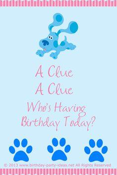 blues clues birthday party theme. #blues clues #birthday #party #theme #invitation #wordings