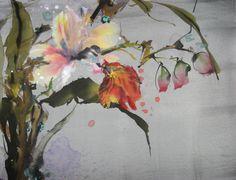"""妙蘭 (""""Miao Lan"""") - Magic Orchid  Ink & Color on Silk"""