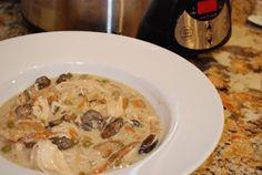 Creamy Mushroom and Chicken Stew Crock Pot Recipe - 4 Points + - LaaLoosh