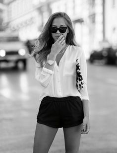 Classic black + white (with a little animal print thrown in) is always chic