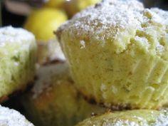 lemon-pistachio muffins
