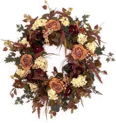 Shabby Chic Fall Wreath