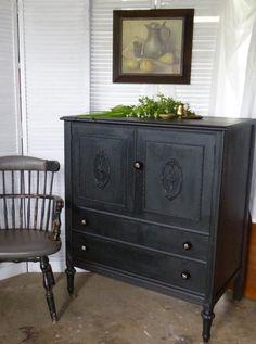 Old West Wardrobe Dresser Vintage Poppy Cottage by poppycottage