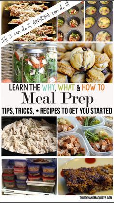 Learn the why, what and how-to's for meal prep ideas!  Featuring 100 tips, tricks, recipes and more.