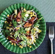 Baby Romaine Salad with Spicy Chicken & Warm Chipotle Vinaigrette