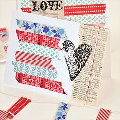 It's amazing what one stamp, a little washi, and some twine can create! Check out this super simple DIY project.
