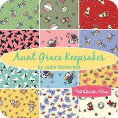 Aunt Grace Keepsakes Fat Quarter Bundle Judie Rothermel for Marcus Brothers Fabrics - Fat Quarter Shop