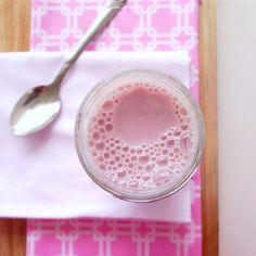 Strawberry Milk by shopcookmake: 10  minutes. #Strawberry #Milk #shopcookmake