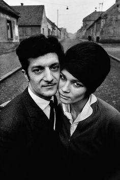 A gypsy couple, Kladno, Czechoslovakia, 1966