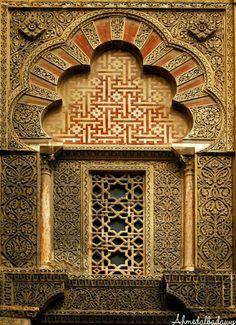 Ventanal de la Mezquita de Córdoba, España