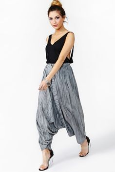 Issey Miyake Silk Harem Pants