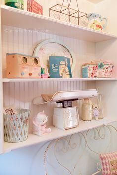 Pretty little shelf ~Laundry Mud Room Dream Makeover! www.jenniferhayslip.com