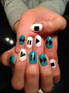 Awesome geeky nail art!