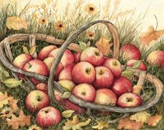 AppleBasket for my months of the   year art journal