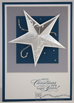 Christmas Star - Gold and Silver Single Stamps, Christmas Star, Delightful Dozen Joanne James, Independent Stampin' Up! UK Demonstrator, blog.thecraftyowl.co.uk