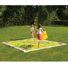 Giant outdoor snakes and ladders game