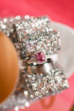 pink diamond engagement ring, photo by Jennifer Crenshaw Photography http://ruffledblog.com/clark-gardens-wedding #engagementrings #pinkdiamond