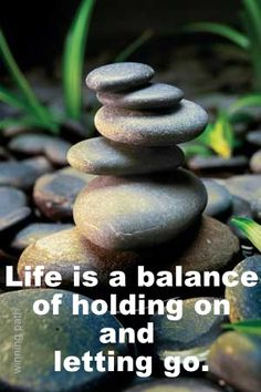 Life is a balance of holding on and letting go #quote