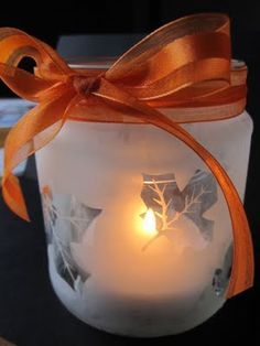 glass etched salsa jar love this idea