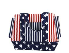 perfect beach bag for the fourth of july!